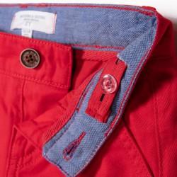 B&S CHINO BABY BOY SHORTS, RED