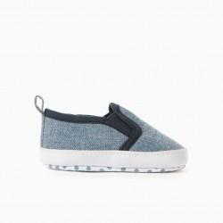NEWBORN SLIP-ON SNEAKERS, BLUE