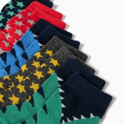 5 PAIRS OF SOCKS FOR BABY BOY 'STARS & DINOSSAURS', MULTICOLOR
