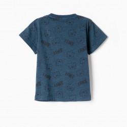 RAWR BABY BOY T-SHIRT, DARK BLUE