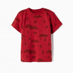 T-SHIRT FOR BABY BOY 'WOODS', RED