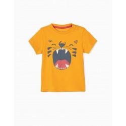 T-SHIRT FOR BABY BOY 'LION', DARK YELLOW