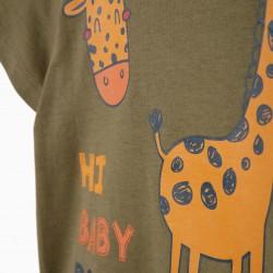 BABY BOY 'GIRAFFE' T-SHIRT, GREEN