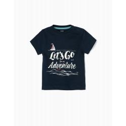 T-SHIRT FOR BABY BOY 'ADVENTURE', DARK BLUE