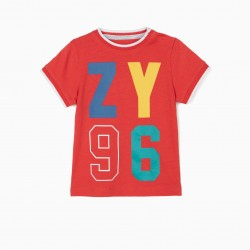 BABY BOY T-SHIRT 'ZY 96', RED €