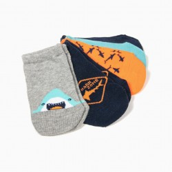 5 PAIRS OF BABY SHARKS SHORT SOCKS, MULTICOLOR