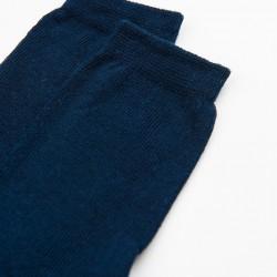PACK 2 PAIRS OF DARK BLUE COTTON SOCKS