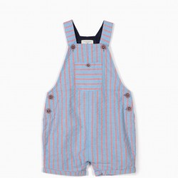 BABY BOY'S 'B&S' STRIPED DUNGAREES, BLUE