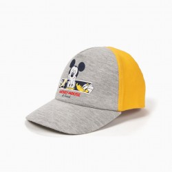 MICKEY & FRIENDS' BABY BOY CAP, YELLOW AND GRAY