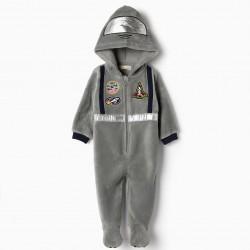ASTRONAUT BABY BOY PAJAMAS-JUMPSUIT, GRAY