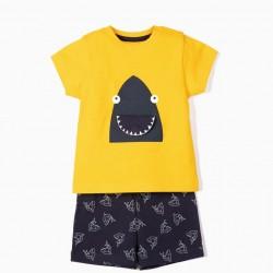 SHARK BABY BOY PAJAMAS YELLOW / BLUE