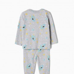PAJAMAS FOR BABY BOY 'MICKEY IN SPACE', GRAY