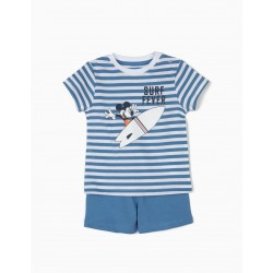 PAJAMAS FOR BABY BOY 'MICKEY SURF FEVER', BLUE AND WHITE