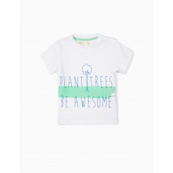 BABY BOY SET 'PLANT TREES', BLUE AND GREEN