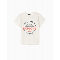 SHIRT, T-SHIRT AND SHORTS FOR BABY BOY 'EXPLORE', MULTICOLOR