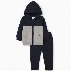 BABY BOY 'KINGDOM' TRACKSUIT, DARK BLUE/GREY