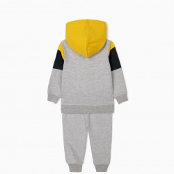 'LET'S RIDE' BABY BOY TRACKSUIT, GRAY