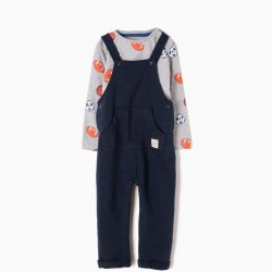 PLAYBALL JUMPSUIT AND LONG SLEEVE T-SHIRT