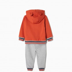 'TIGER', ORANGE AND GRAY BABY BOY TRACKSUIT