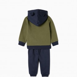 'TIGER' BABY GIRL TRACKSUIT, DARK BLUE AND GREEN
