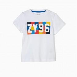 BABY BOY T-SHIRT 'ZY 96', WHITE