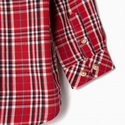 PLAID SHIRT FOR BABY BOY, RED