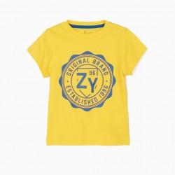 BABY BOY T-SHIRT 'ZY 96', YELLOW