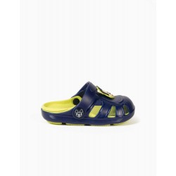 CLOGS SANDALS FOR BABY BOY 'MICKEY', BLUE / LIME YELLOW