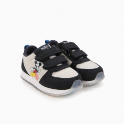 BABY SHOES FOR BOYS 'MICKEY BASKETBALL', BLUE AND GRAY