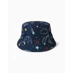 SPACE AND BABY HAT 'BOY', DARK BLUE