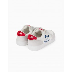 BOYS 'MICKEY' SNEAKERS WITH LIGHTS, WHITE
