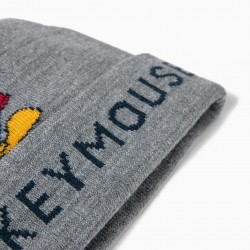 KNITTED BEANIE FOR BOY 'MICKEY', GRAY
