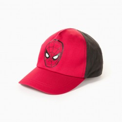 'SPIDER-MAN' TWO-COLOR BOY CAP, RED/BLACK