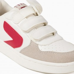 BOYS 'ZY' TRAINERS, WHITE / RED