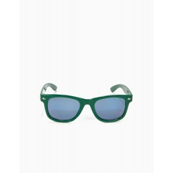 BOY'S SUNGLASSES, GREEN AND BLUE