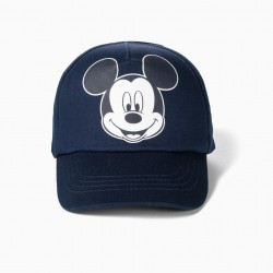 BABY BOY 'MICKEY' CAP, DARK BLUE