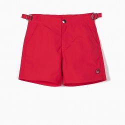 BOARDSHORTS FOR BOYS, RED