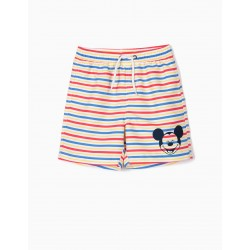 BOYS 'MICKEY' BOARDSHORTS STRIPES ANTI-UV 80, MULTICOLOR