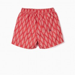 BOY PRINTED SWIMSUITS, RED