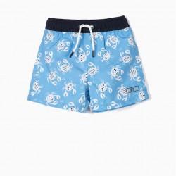 BABY BOY SWIM SHORTS 'B&S' ANTI-UV 80, BLUE
