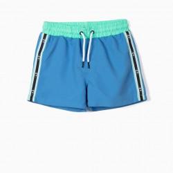 'ZY' ANTI-UV 80 BOYS BOARD SHORTS, LIGHT BLUE