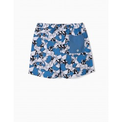 'SYLVESTER' ANTI-UV 80 BOYS SWIM SHORTS, BLUE