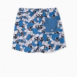 'SYLVESTER' ANTI-UV 80 BOYS SWIM SHORTS, BLUE