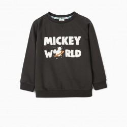 MICKEY WORLD' BOY SWEATSHIRT, DARK GRAY