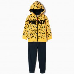 'MICKEY' YELLOW AND DARK BLUE TRACKSUIT FOR BOYS