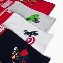 4 BOXERS FOR BOYS 'AVENGERS', MULTICOLOR