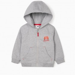 HOODED JACKET FOR BABY BOY 'MCQUEEN', GRAY
