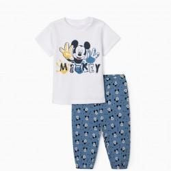 BABY BOY PAJAMAS 'MICKEY', WHITE/BLUE