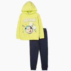 MICKEY ASTRONAUT' TRACKSUIT FOR BOYS, LIME YELLOW