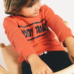 'ENJOY TODAY' TRACKSUIT FOR BOYS, RED / DARK BLUE